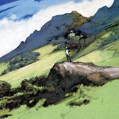 The Calm Lands concept art for <i>Final Fantasy X</i>.