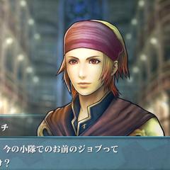 Screenshot of Naghi in <i>Agito</i>.