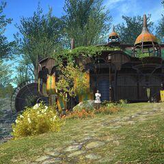The adventure guild in Gridania.