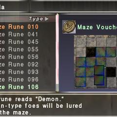 Placing maze runes in the maze tabula.