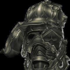 Gabranth's broken helmet, shattered by Vayne's Sephira.