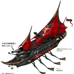 Concept artwork of Brahne's fleet.