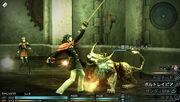 Machina fighting Final Fantasy Type-0