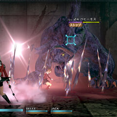 <i>Final Fantasy Type-0 HD</i> Behemoth in battle.