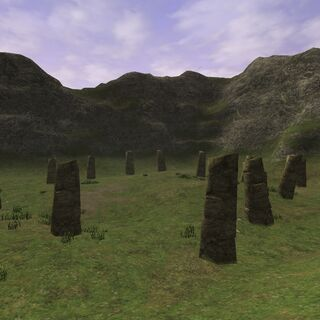 The Stone Circle at La Theine Plateau.