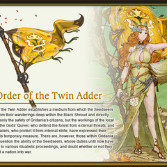 Order of the Twin Adder Artwork by Akihiko Yoshida.