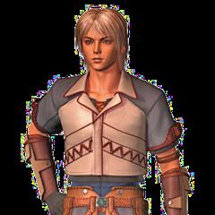 CG render of Firion for the opening FMV of <i>Final Fantasy Origins</i>.