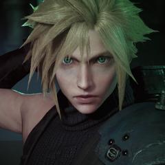 Cloud in <i>Final Fantasy VII</i> remake.
