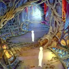 Pathway to the Farplane concept artwork for <i>Final Fantasy X</i>.