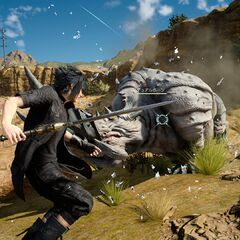 Noctis fighting Big Horn.