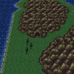 The Esper Caves on the World Map (SNES).