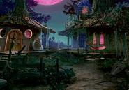 Black mage village at night