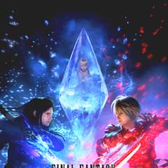 Promotional art featuring Fina encased in crystal.