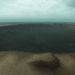 The crater from Ultima Bomb.