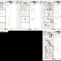 Storyboard of Ark's summoning sequence.