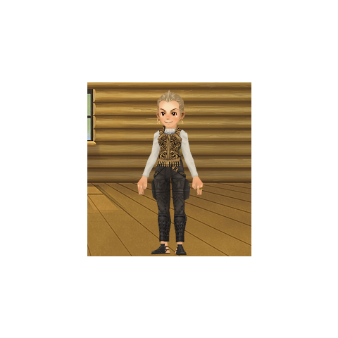 An avatar dressed as Balthier from the Square-Enix Members Virtual World.