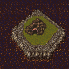 Ebot's Rock on the world map (SNES).