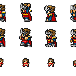 Sprites of the Knight.