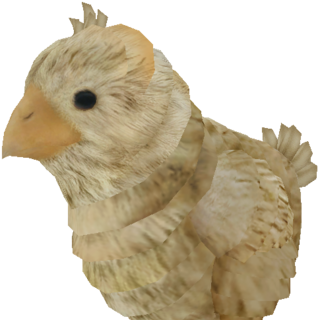 Render of a Chocobo chick.