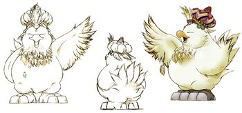 Fat Chocobo FFIX Artwork