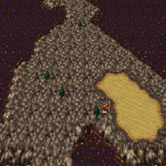 Solitary on the world map (GBA).