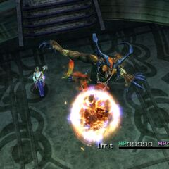 Ifrit in battle.