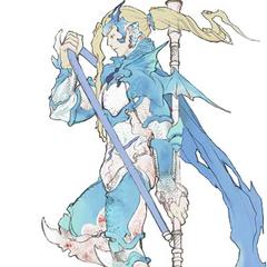 Kain Highwind as Holy Dragoon.