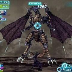 Bahamut in battle.