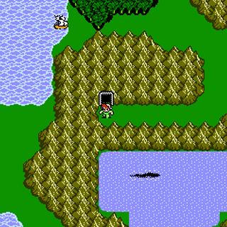 Gulgan Gulch on the World Map (NES).