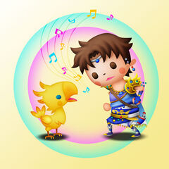 Bartz and Boko in <i>Theatrhythm Final Fantasy</i>.