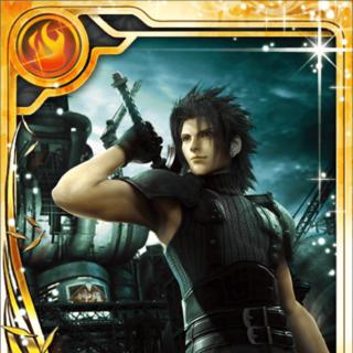Zack's <i>Crisis Core</i> card (SR+ rarity).