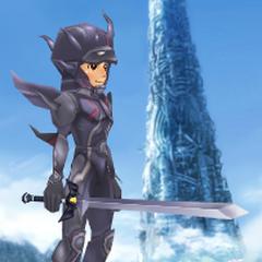 An avatar dressed as Dark Knight Cecil.