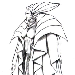 Concept art of the second Sorceress