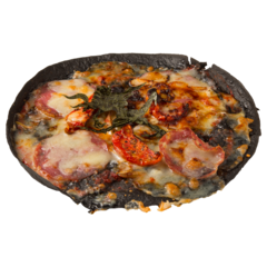 Pizza of Ifrit with hot sauce