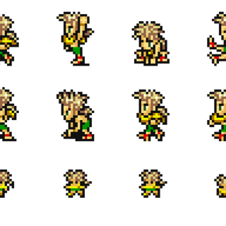 Set of Gau's sprites.