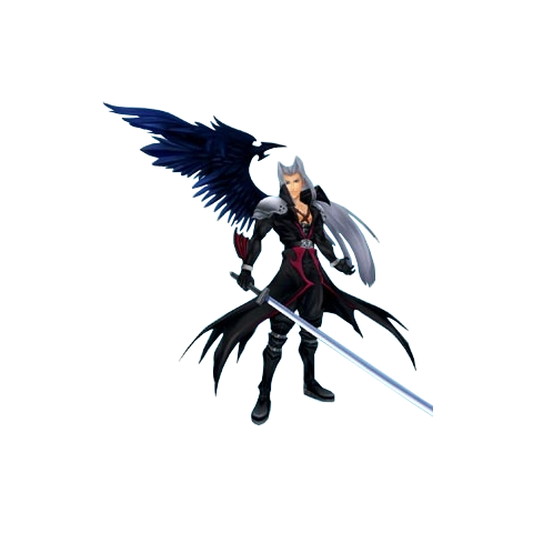 Sephiroth <i>Kingdom Hearts</i> CG model.
