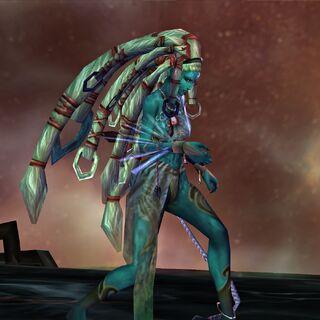 Shiva possessed by Yu Yevon.