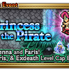 Global event banner for The Princess and the Pirate.