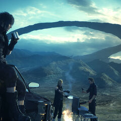 Noctis and the party.
