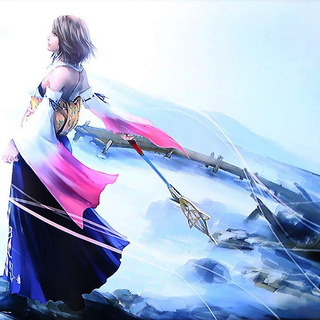 Artwork of Yuna and Tidus done for the <i>Final Fantasy X/X-2 HD Remaster</i> Art Exhibit.