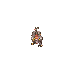Overworld sprite of the <i>Final Fantasy II</i> Behemoth (PSP).