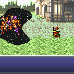Kefka turning an esper into magicite.