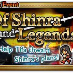Global event banner for Of Shinra and Legends.