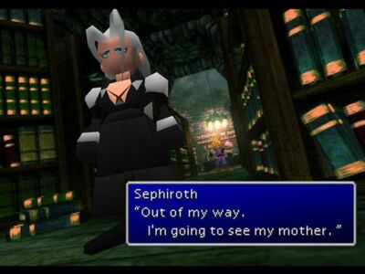 "Sephiroth ""I'm going to see my mother"""