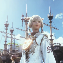 Y'shtola in the opening of <i>A Realm Reborn</i>.