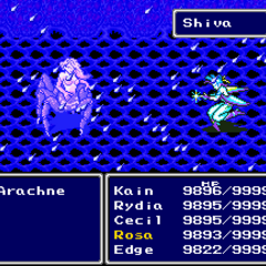 Shiva upon being summoned (SNES).