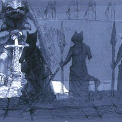 Concept art of the statue.