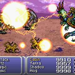 Valigarmanda is summoned into battle (GBA).