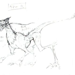 Concept art of a coeurl.