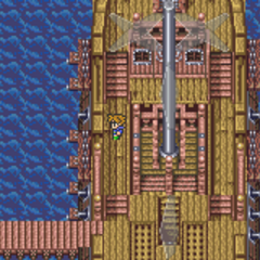 Bartz, arriving at the Rift (GBA).